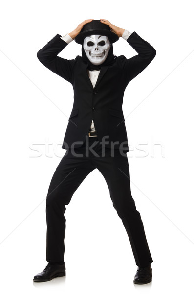 Homme effrayant masque isolé homme blanc blanche Photo stock © Elnur