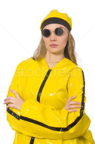 Woman in yellow suit isolated on white Stock photo © Elnur