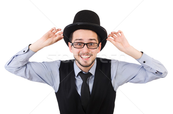 Young man in hat isolated on white Stock photo © Elnur