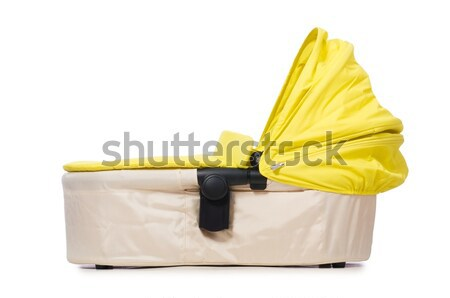 Stock photo: Baby carrycot isolated on white