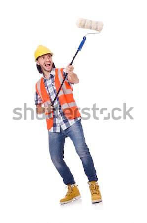 промышленных работник изолированный белый бизнеса человека Сток-фото © Elnur