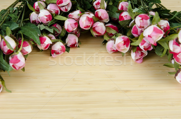 Rose flowers arranged with copyspace for your text Stock photo © Elnur