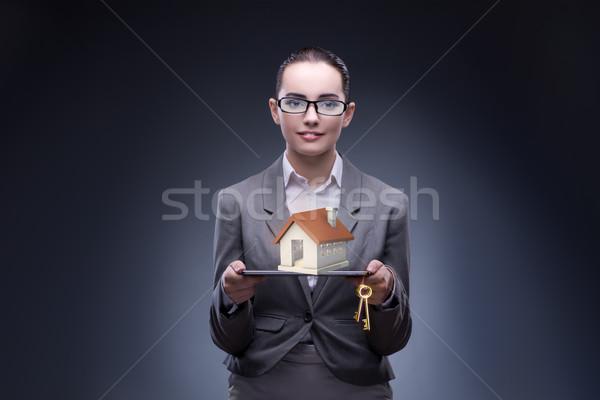 Businesswoman in housing mortgage concept Stock photo © Elnur