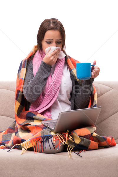 питьевой чай лихорадка кофе медицинской Сток-фото © Elnur