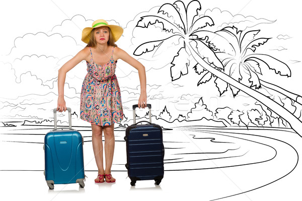 Young woman travelling tropical island in travel concept Stock photo © Elnur