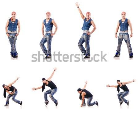 Danser dansen witte naakt partij gelukkig Stockfoto © Elnur