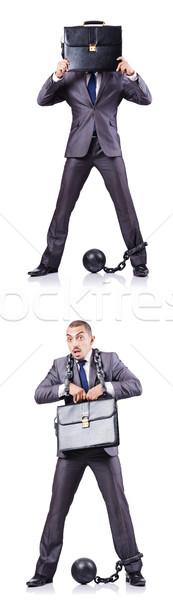 Imprenditore bianco legge giustizia palla lock Foto d'archivio © Elnur