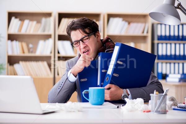 Doente doente empresário escritório homem saúde Foto stock © Elnur