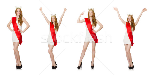 The beauty contest winner isolated on the white Stock photo © Elnur