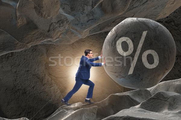 бизнесмен высокий долг бизнеса Финансы рынке Сток-фото © Elnur