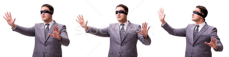 目隠し ビジネスマン 孤立した 白 男 作業 ストックフォト © Elnur