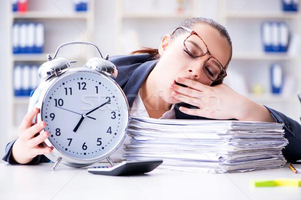 üzletasszony időbeosztás nő munka alszik menedzser Stock fotó © Elnur
