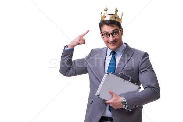 Király üzletember izolált fehér munka igazgató Stock fotó © Elnur