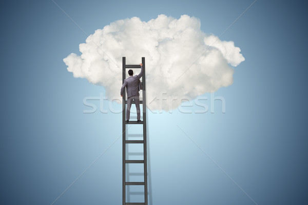 Zakenman ambitie motivatie man werken ontspannen Stockfoto © Elnur