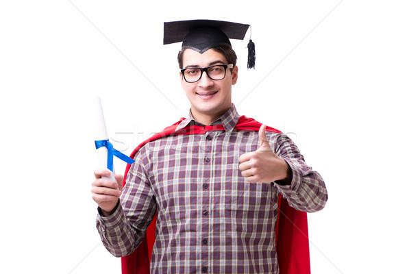 Foto stock: Estudiante · bordo · CAP · aislado