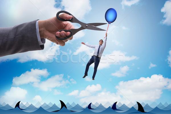 Affaires battant ballon affaires travail Photo stock © Elnur