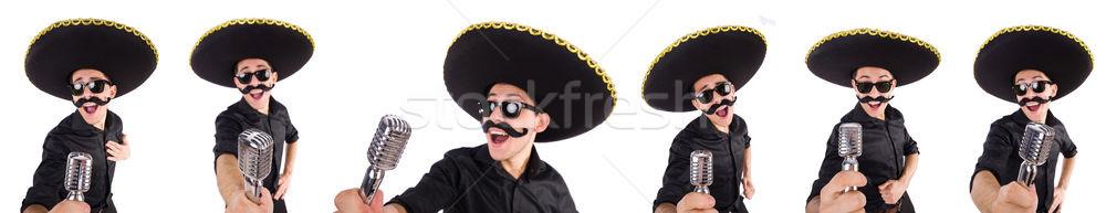 смешные человека мексиканских сомбреро Hat Сток-фото © Elnur
