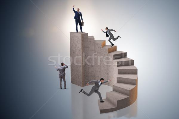 üzlet üzletemberek lépcsőház háttér üzletember fut Stock fotó © Elnur