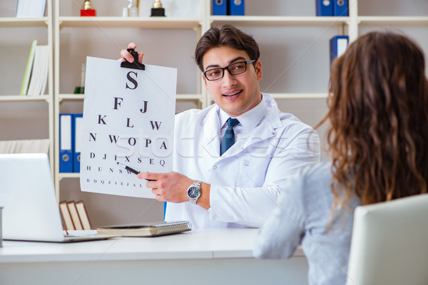 Arts opticien brief grafiek controleren Stockfoto © Elnur
