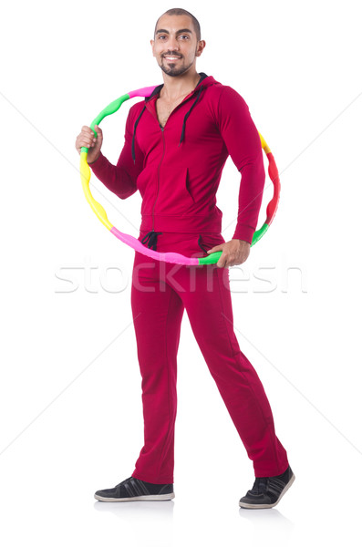Man doing excecises with hula hoop  Stock photo © Elnur