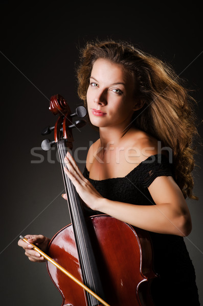 Woman performer with cello  in studio Stock photo © Elnur