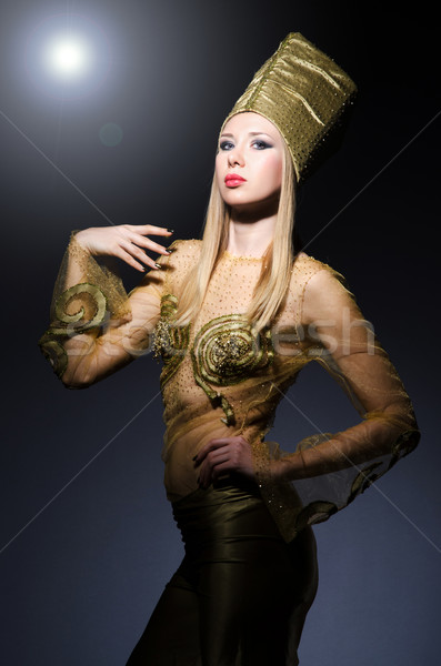 Young model in personification of egyptian beauty Stock photo © Elnur
