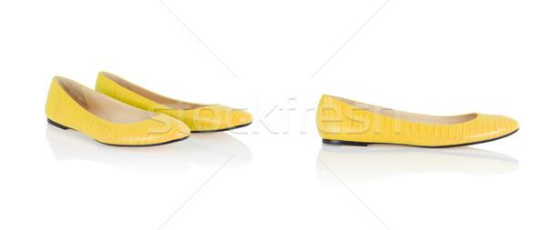 Ballet shoes isolated on the white Stock photo © Elnur