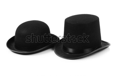 Black tophat top hat isolated on the white Stock photo © Elnur