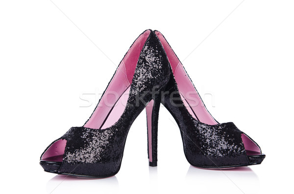 Black woman shoes isolated on white Stock photo © Elnur