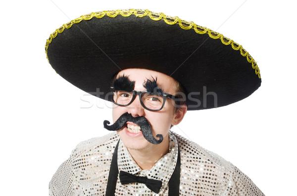 Funny mexican odizolowany biały szczęśliwy retro Zdjęcia stock © Elnur