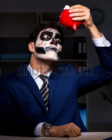 Funny devil against dark background Stock photo © Elnur