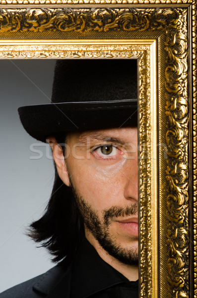 Homme chapeau cadre photo travaux fond affaires Photo stock © Elnur