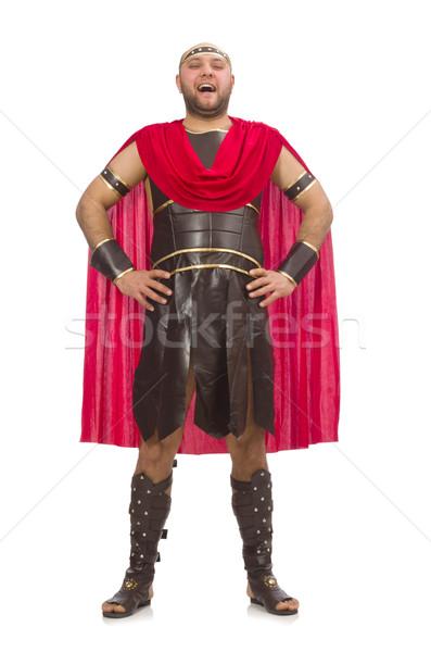 Gladiátor izolált fehér férfi háttér stúdió Stock fotó © Elnur