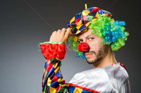 Funny clown in colourful costume Stock photo © Elnur