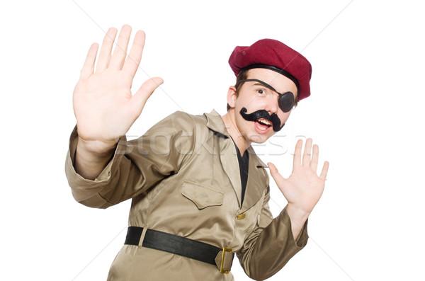 Funny soldado militar hombre verde guerra Foto stock © Elnur