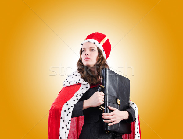 Vrouw koningin grappig werk zakenman uitvoerende Stockfoto © Elnur