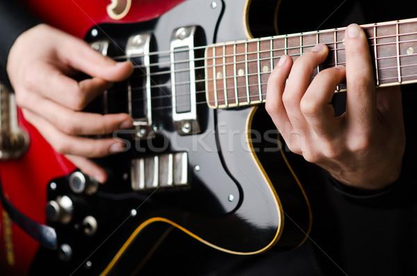 Uomo chitarra concerto party metal divertimento Foto d'archivio © Elnur