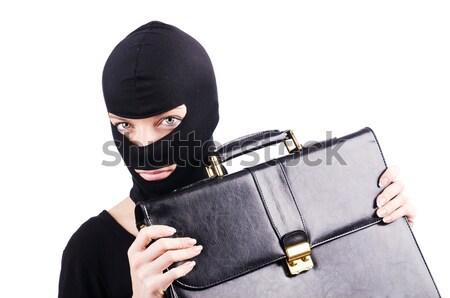 Ninja faca isolado branco homem metal Foto stock © Elnur