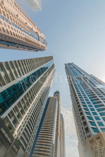 Alto Dubai marina grattacieli acqua costruzione Foto d'archivio © Elnur