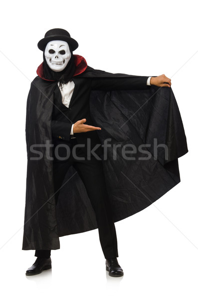 Człowiek scary maska odizolowany biały człowiek biały Zdjęcia stock © Elnur