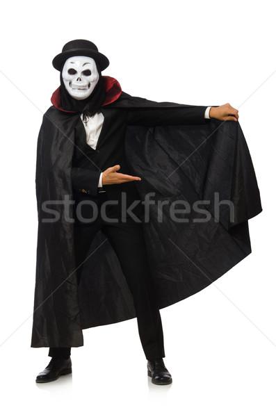 Homem assustador máscara isolado homem branco branco Foto stock © Elnur