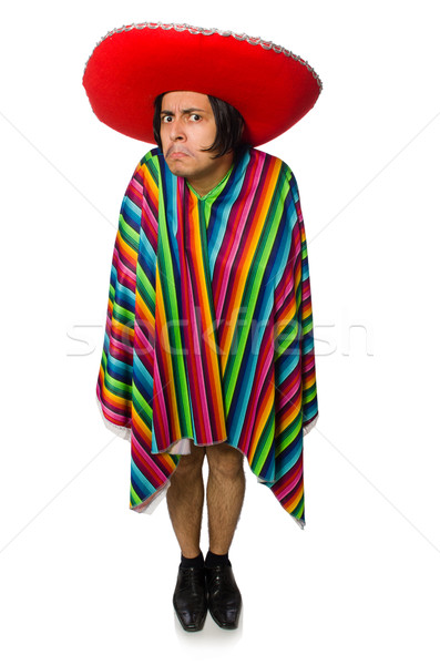 Naked mexican man isolated on white Stock photo © Elnur