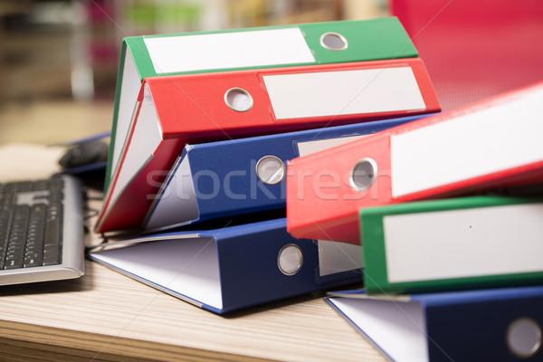 Stacks of office binders on desk Stock photo © Elnur