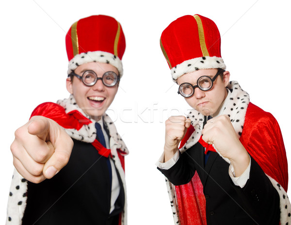 Man pointing his fingers isolated on white Stock photo © Elnur