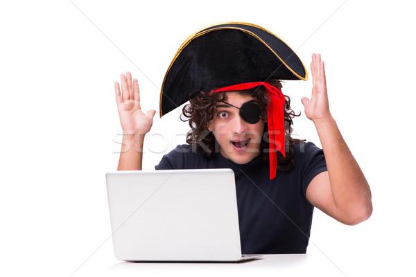 デジタル セキュリティ 海賊 孤立した 白 インターネット ストックフォト © Elnur