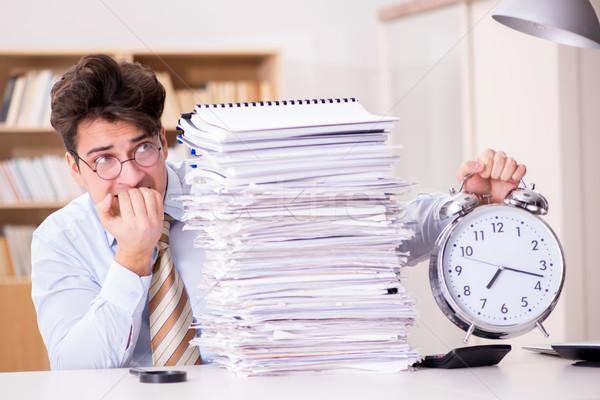 Businessman failing to meet report deadlines Stock photo © Elnur