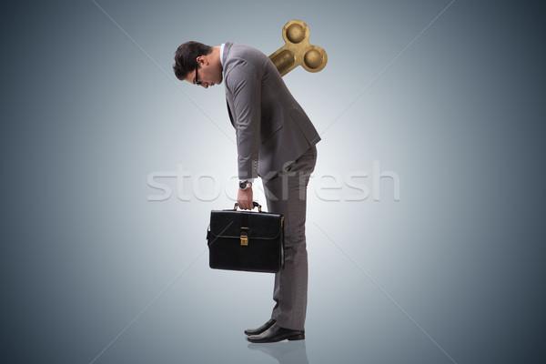 Imprenditore chiave lavoro suit giocattolo indietro Foto d'archivio © Elnur