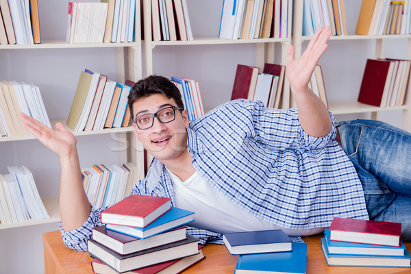 Stock photo: Young student taking break and falling asleep