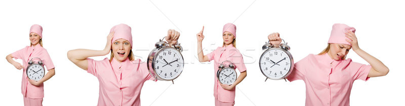 The woman doctor missing her deadlines Stock photo © Elnur