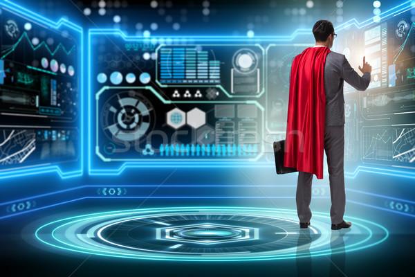 Superhero in data management concept Stock photo © Elnur